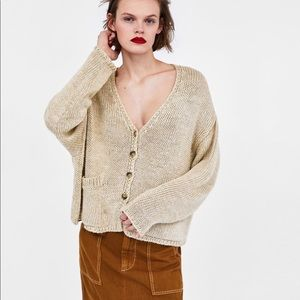 Zara combined oversized cardigan